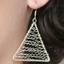 Boucles d'oreilles triangle en argent 925 bijou de créateur