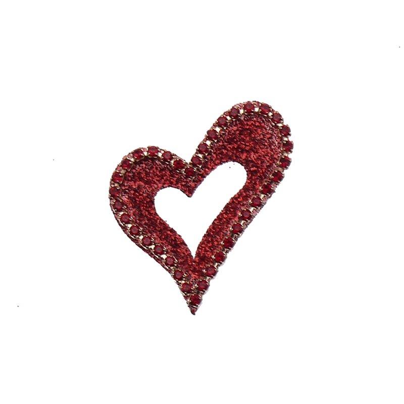 Bijou de peau autocollant Swarovski strass et tatoo coeur rouge 171b9a2b3ef0