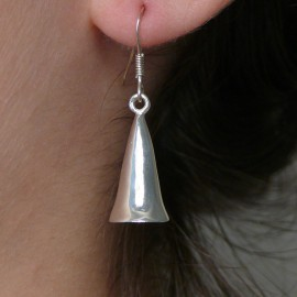 Boucles d'oreilles cloche en argent 925 oreilles percées