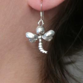 Boucles d'oreilles fantaisie bijou de créateur en argent