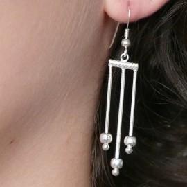 Boucles d'oreilles pendantes en argent 925 oreilles percées