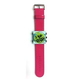 Bracelet de montre Stamps rose vernis