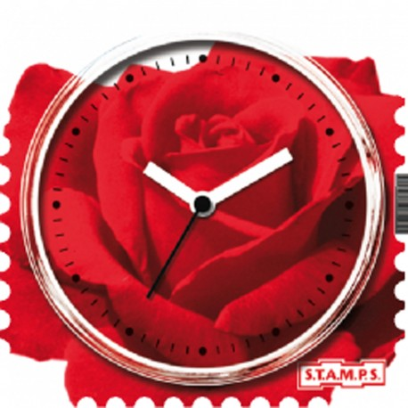 Montre Stamps cadran de montre rose scented