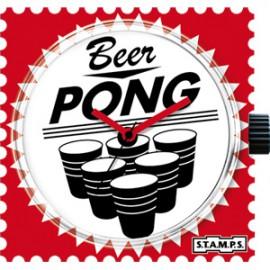 S.T.A.M.P.S. Cadran waterproof de montre beer pong