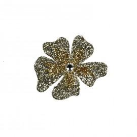 Bijou de peau karnyx venchy fleur dégradé sable et doré