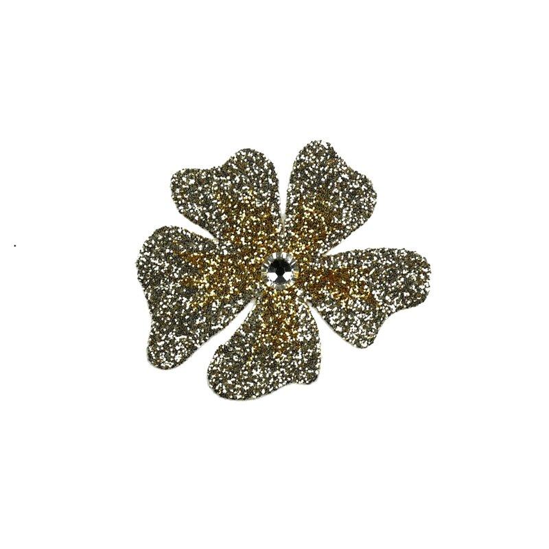 ... autocollant Swarovski strass et tatoo fleur sable et doré. Bijou de peau  karnyx venchy fleur dégradé sable et doré. Loading zoom 77c54a61b7a5