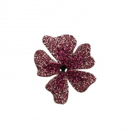 Bijou de peau Karnyx venchy fleur dégradé burgundy et coral