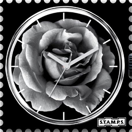 Montre Stamps cadran de montre rose mystic garden