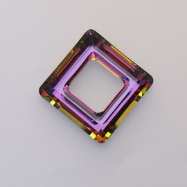 pendentif Swarovski carré 2cm fushia