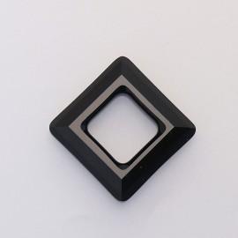 pendentif Swarovski carré 2cm noir