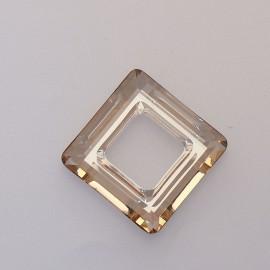 pendentif Swarovski carré 2cm champagne