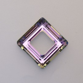 pendentif Swarovski carré 2cm lilas