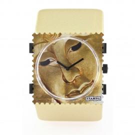 Bracelet élastique de montre Stamps belta doré