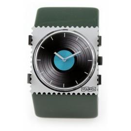 Bracelet élastique de montre Stamps belta vert bouteille