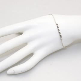 Bracelet Enomis cordon couleur ivoire perles argent 925