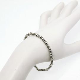 Bracelet fantaisie Ubu argent élastique perles