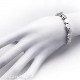 Bracelet fantaisie Ubu argent élastique ronds