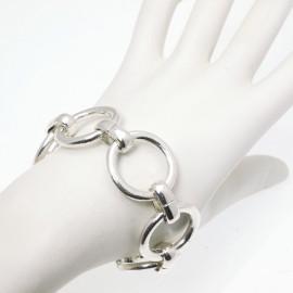 Bracelet Ubu mailles rondes argent
