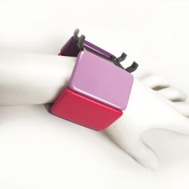 Bracelet élastique de montre Stamps belta 70s violet