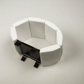 Montre Stamps bracelet de montre élastique belta sculpture blanc