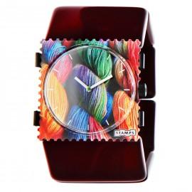 Bracelet élastique de montre Stamps belta aubergine