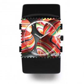 Bracelet élastique de montre Stamps belta noir