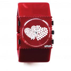 Bracelet élastique de montre Stamps belta rouge