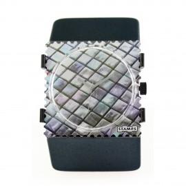 Bracelet élastique de montre Stamps belta argent foncé titane