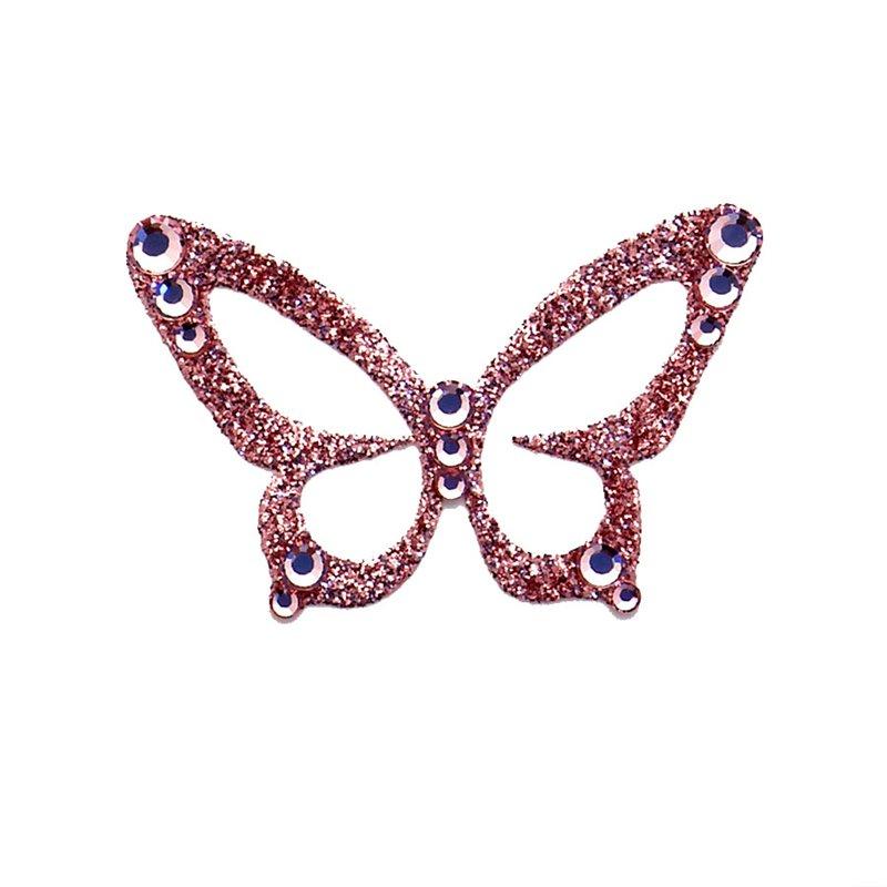 ... autocollant Swarovski strass et tatoo papillon rose corail. bijou-de- peau-karnyx-javany-papillon-rose-corail-. Loading zoom 86fd57b16d96