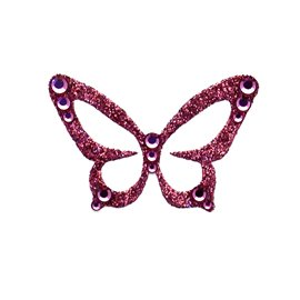Bijou de peau Karnyx javany n1 papillon rose burgundy