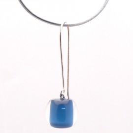Boucles d'oreilles percées bleu créateur Zsiska