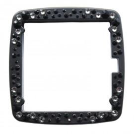 Montre Stamps cadran entourage de montre full metal jack noir mat et strass