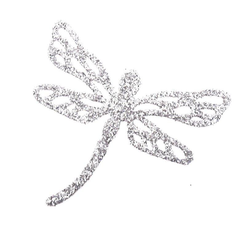 Bijou de peau autocollant tatoo pailleté libellule argent 3c969dcba461