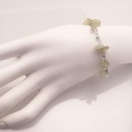 Bracelet fantaisie vert sur cable
