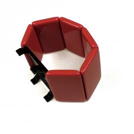 Montre Stamps bracelet élastique belta rouge orangé