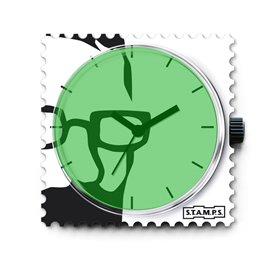 STAMPS Cadran de montre green python