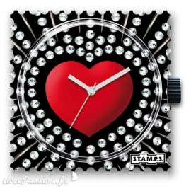 STAMPS Cadran de montre red heart