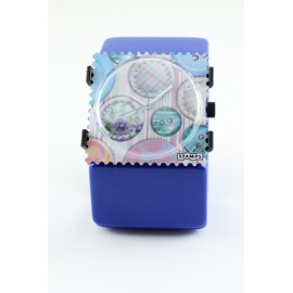 Bracelet élastique de montre Stamps belta bleu