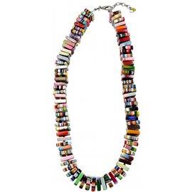 Collier fantaisie créateur Sobral carrés multicolore
