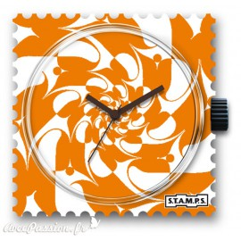 Cadran de montre Stamps orange fever - -