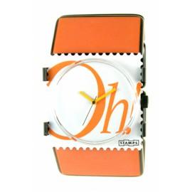 Bracelet élastique de montre Stamps belta paris orange