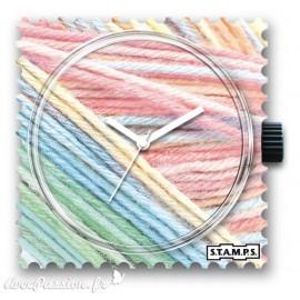 Cadran de montre Stamps pastel wool - -