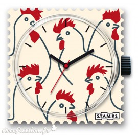 Montre Stamps cadran de montre looking for chicken