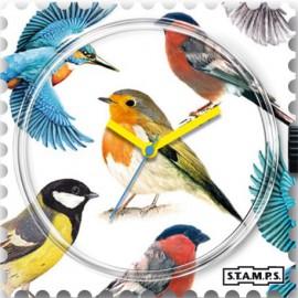 Cadran de montre Stamps birds -1511001
