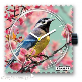 STAMPS Cadran de montre romantic bird