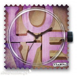 STAMPS Cadran de montre pink love