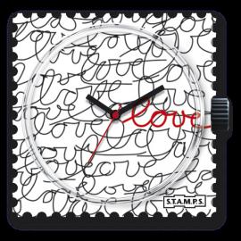 Cadran de montre Stamps love love love