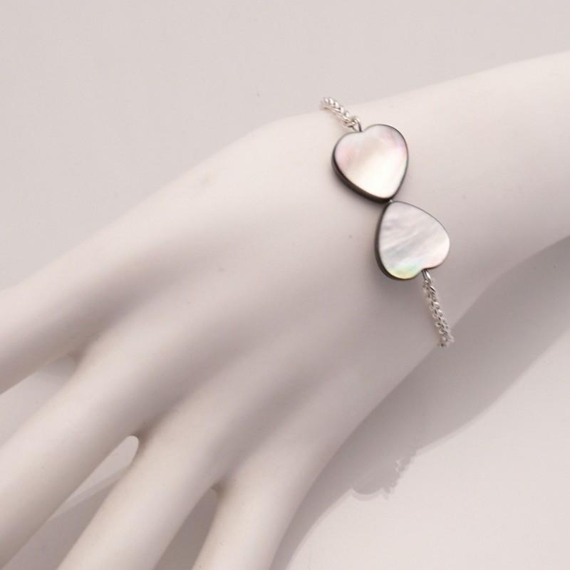 56d11ad79ad bracelet-fantaisie-gris-bijou-createur-clairebelle-ref-01740. Loading zoom