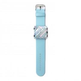 Bracelet de montre Stamps bleu pastel