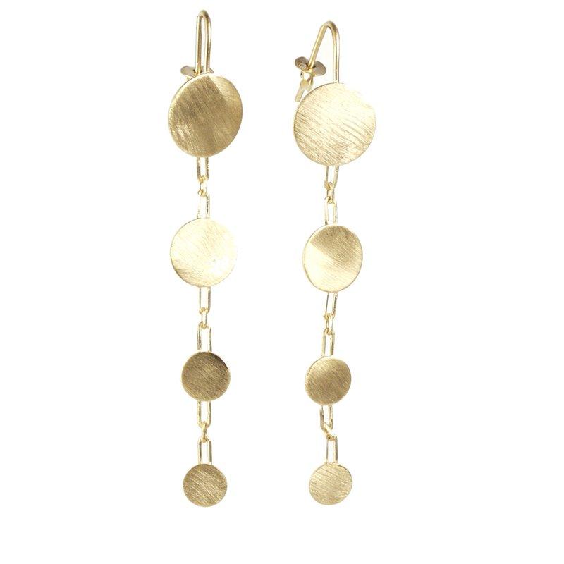 boutique officielle Couleurs variées info pour Boucles d'oreilles dorées pendantes Eneida oreilles percées